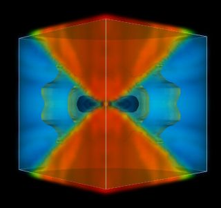 Scientists at NASA's Jet Propulsion Laboratory, Pasadena, Calif., used simulations to show that the first stars, during their formation, had a greater impact on surrounding gas than previously thought.