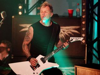 Get your wings: Hetfield performing last November in San Francisco