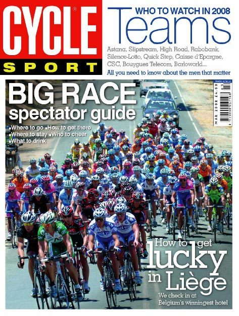 Cycle Sport March 2008 cover