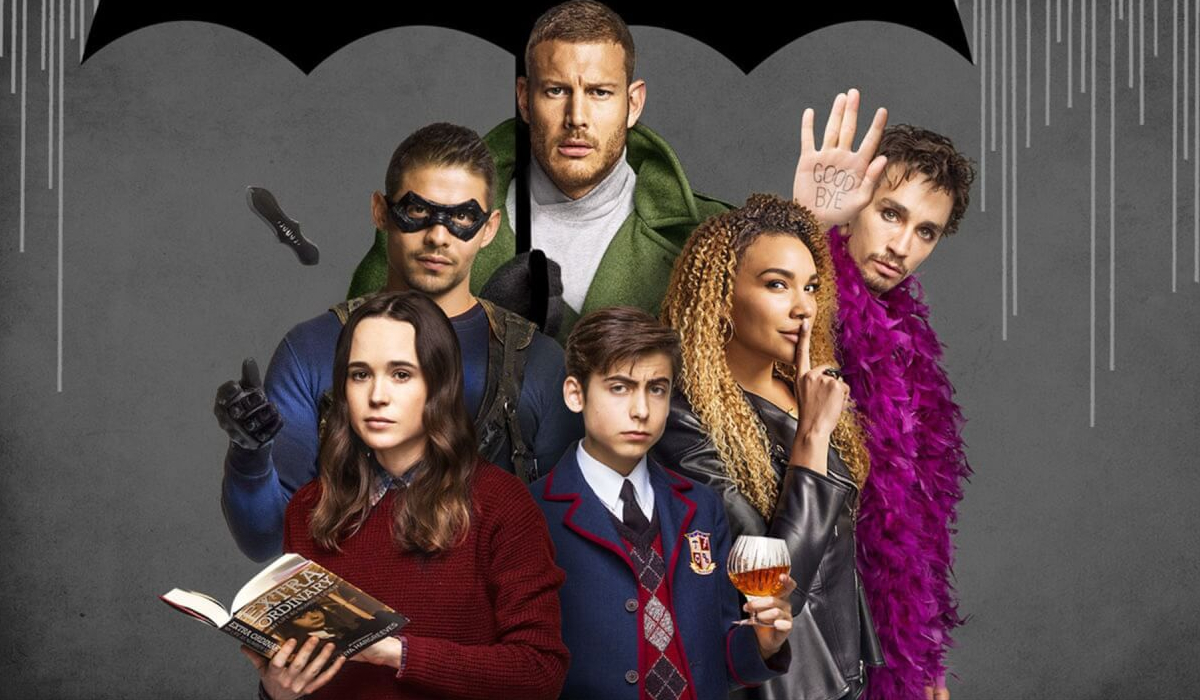 The Umbrella Academy The Hargreeves family stand together