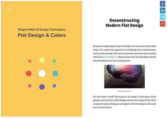 Free ebooks for designers: Flat Design & Colors