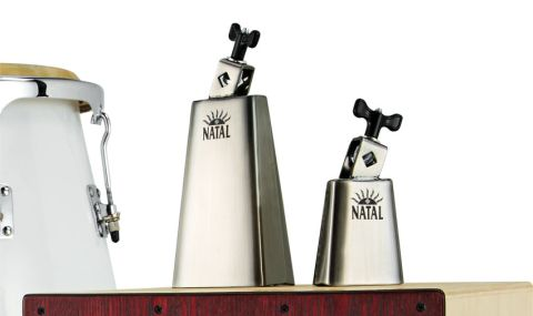 "We were sent the smallest 31⁄2"" (8.8cm) and the largest 61⁄2"" (16.5cm) in a set of four cowbells (top right)"