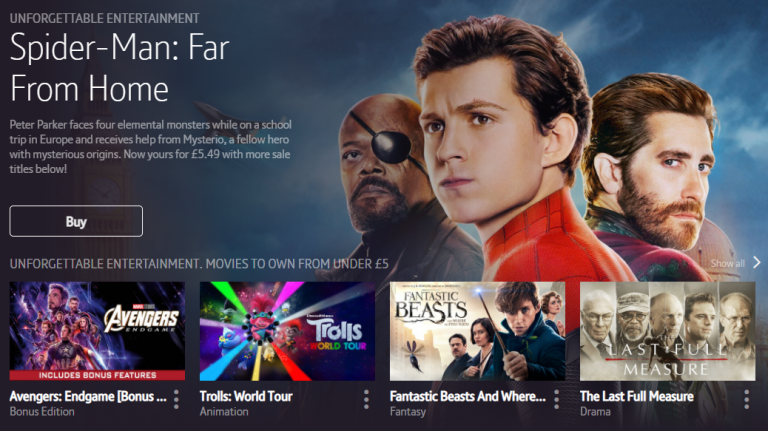 Amazon Prime Video, Sky Store and Apple TV