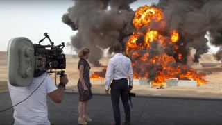 A massive stunt explosion on the Morroco set of 'Spectre' has broken a world record