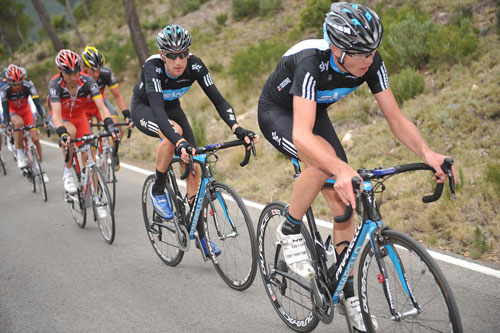 Chris Froome and Bradley Wiggins, Tour of Murcia 2010, stage three