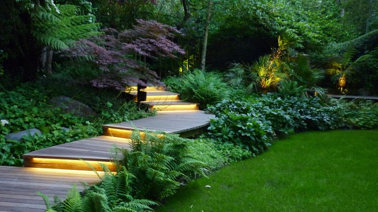 how much does garden lighting cost: Andrew Wenham MSGD illuminated outdoor steps