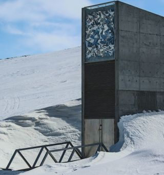 Entrance to the Global Seed Vault in Svalbard.