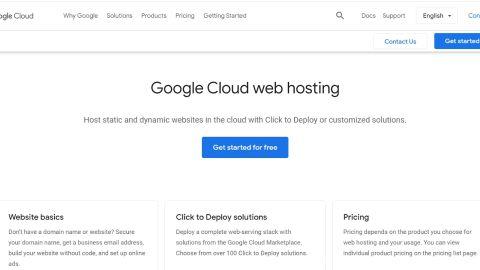 Google Cloud's homepage