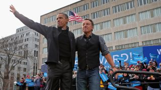 A picture of President Barack Obama and Bruce Springsteen