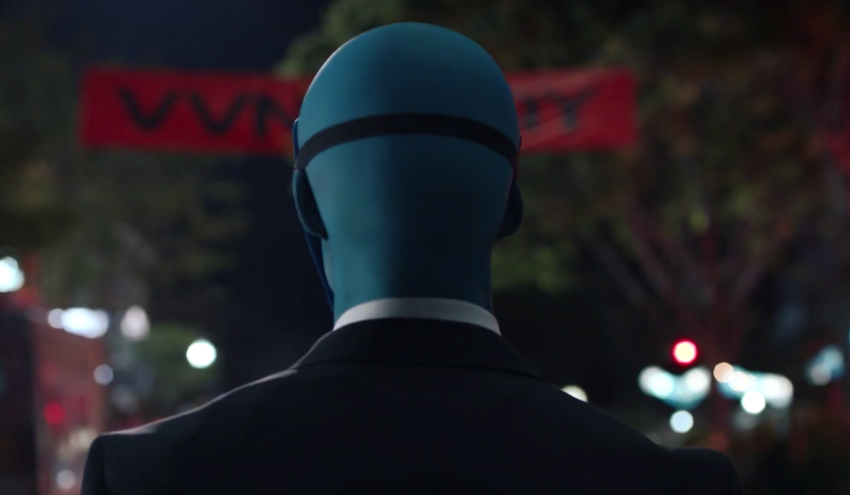 doctor manhattan wearing mask hbo watchmen