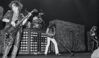 Black Sabbath perform in concert in New York City on October 29, 1983