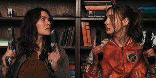 Lena Headey and Karen Gillan in Gunpowder Milkshake