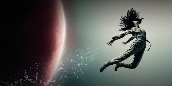 The Expanse < girl floating through space