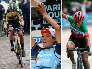 Marianne Vos, Lizzie Deignan, Elisa Longo Borghini during Paris-Roubaix