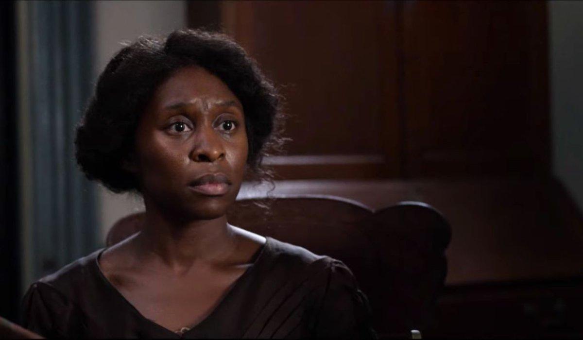 Harriet sitting in William Still's office