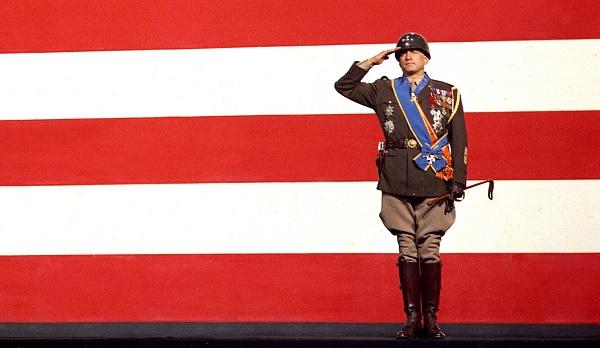 Patton George C. Scott flag intro salute