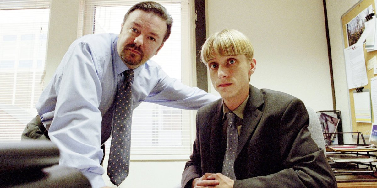 Ricky Gervais and Gareth Keenan on The Office