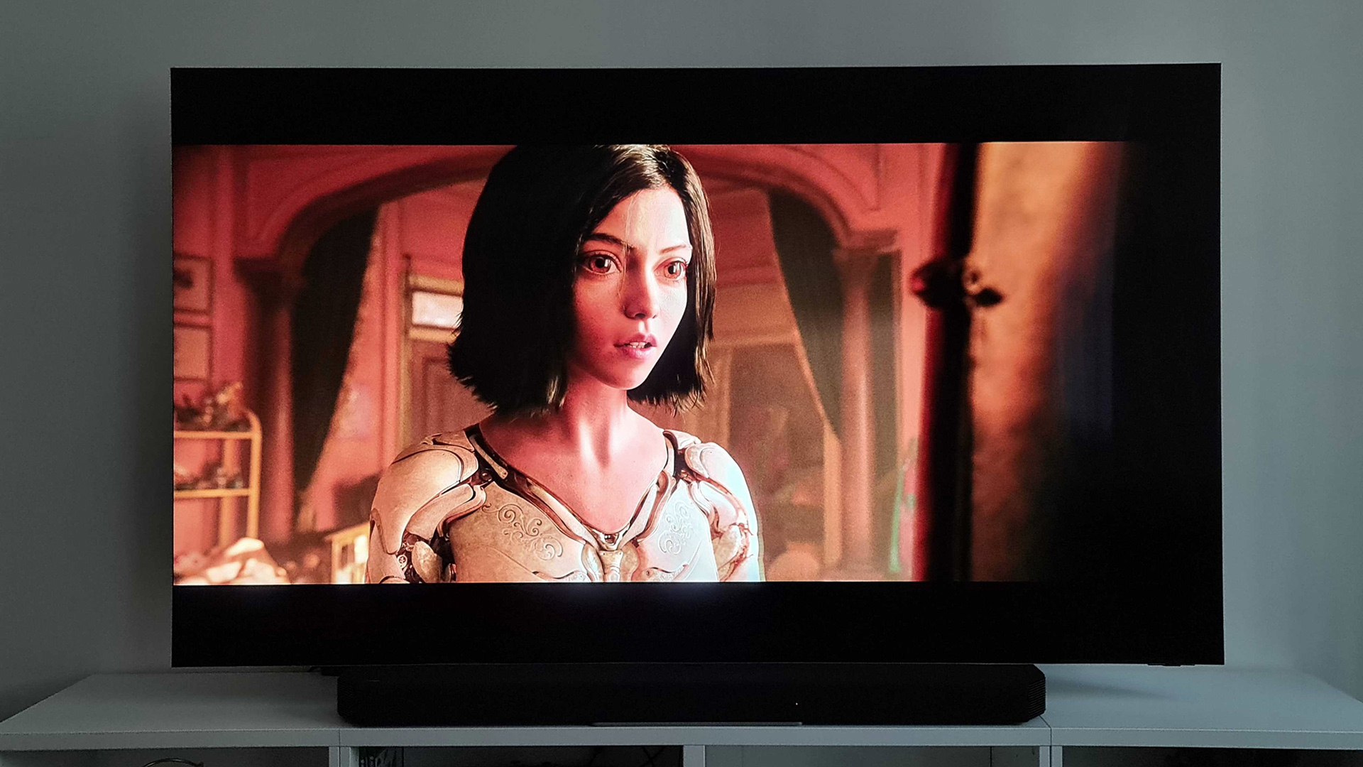 A movie being played on the Samsung QN900A Neo QLED 8K