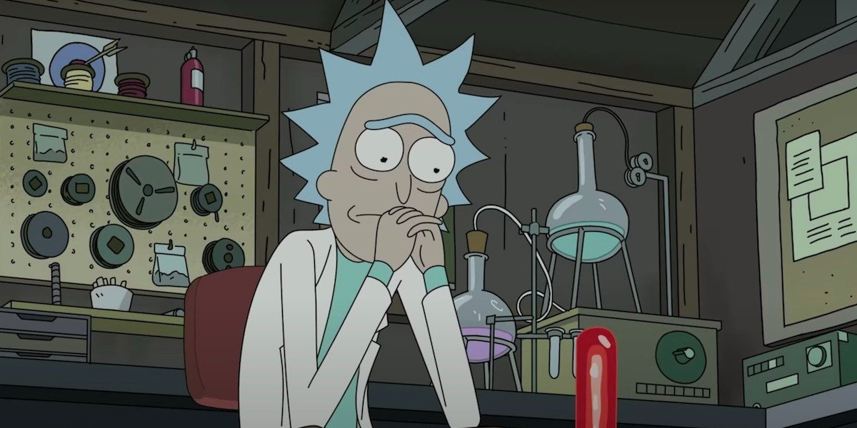 Rick Sanchez in the Season 4 finale of Rick and Morty.