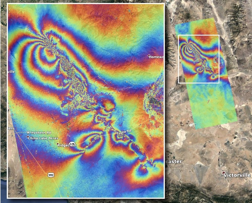 2 SoCal Earthquakes Warped the Ground for Miles. And It's Visible from Space.