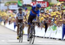David Millar (Garmin - Sharp) triumphs on stage 12