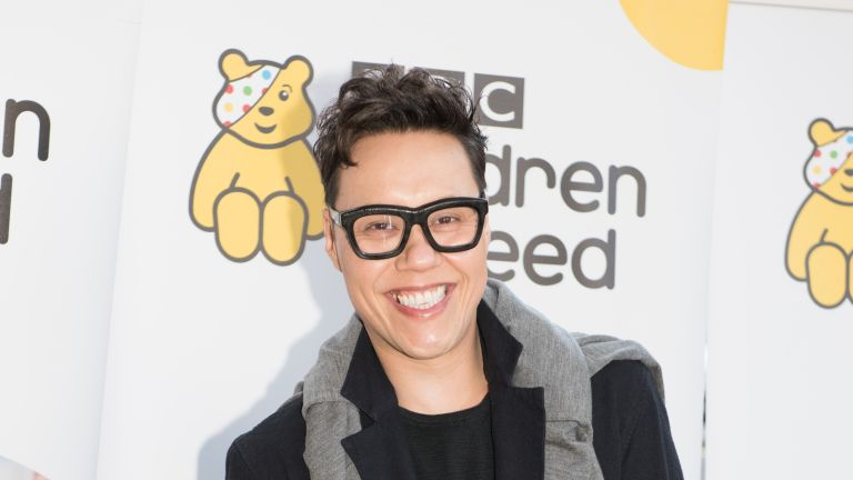 Gok Wan arrives for Terry Wogan's Gala Lunch for Children In Need at the Landmark Hotel on November 01, 2015 in London, England