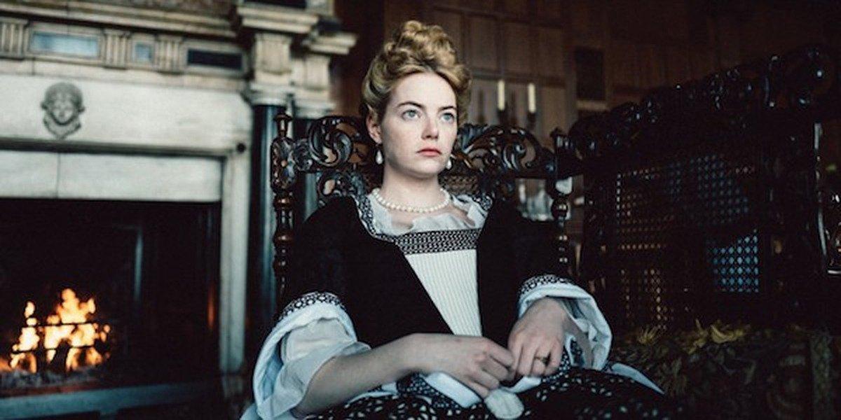 Emma Stone in The Favourite.