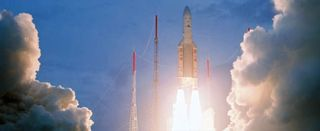 Ariane 5 Rocket Hauls Up Another Double Payload Stack