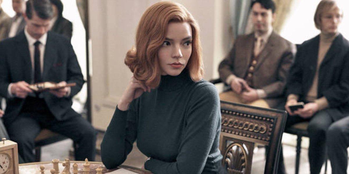 Anya Taylor Joy in Queen's Gambit.