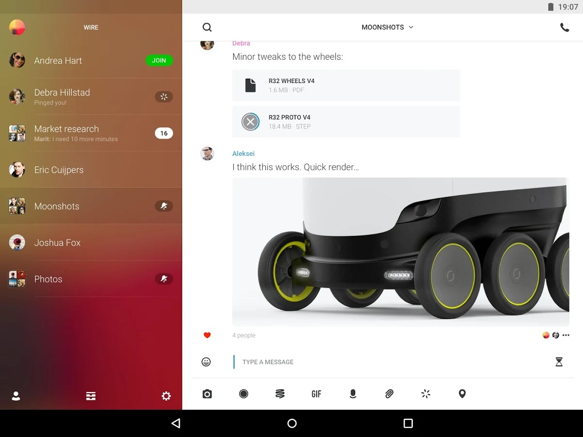 best chat apps: Wire