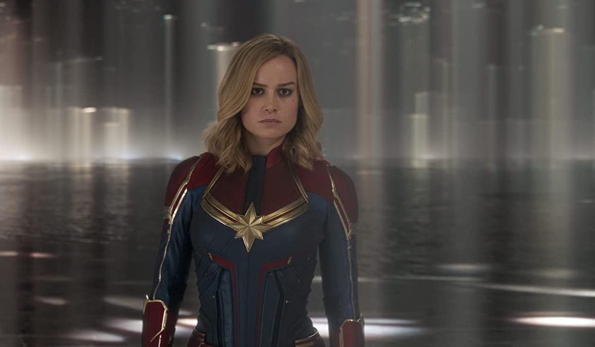Captain Marvel with the Supreme Intelligence in 2019 movie