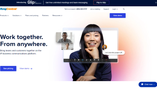 RingCentral VoIP homepage