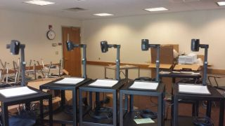Replacing OVs with document cameras improves accessibility, as these endpoints can be fed into lecture capture systems.