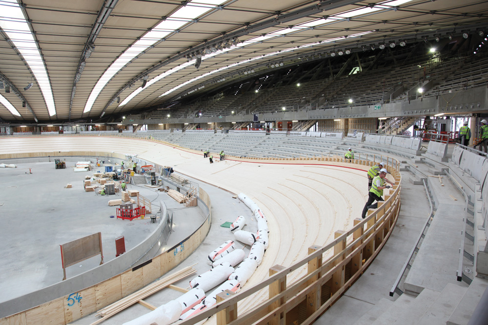 london, velodrome, olympics, 2012, construction, track, webb