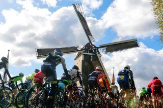 The obligatory Amstel Gold Race windmill.