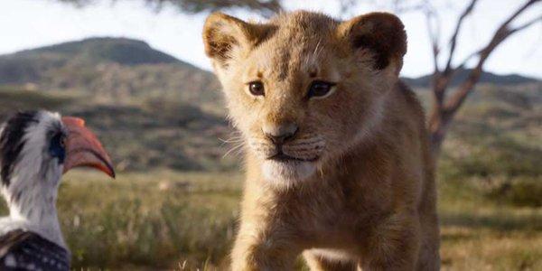 The Lion King trailer shot of Simba and Zazu