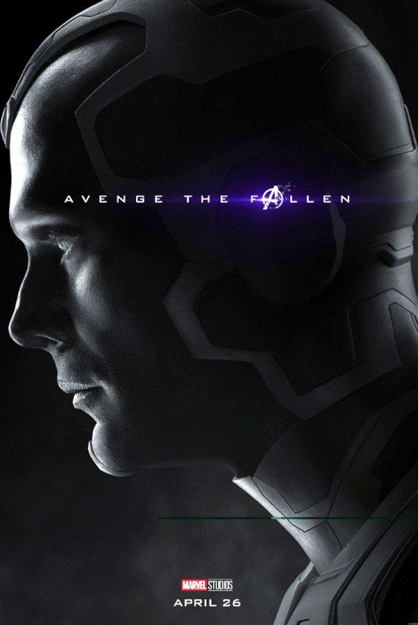 Avengers: Endgame Vision poster from BossLogic and Paul Bettany Twitter
