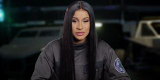 Cardi B during a behind-the-scenes interview for 'F9'