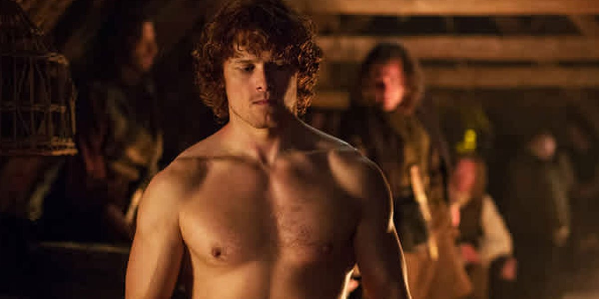 Outlander's Sam Heughan Posts Shirtless Photos To Encourage Fans To Keep Working Out