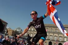 Bradley Wiggins does his best Sid Vicious impersonation