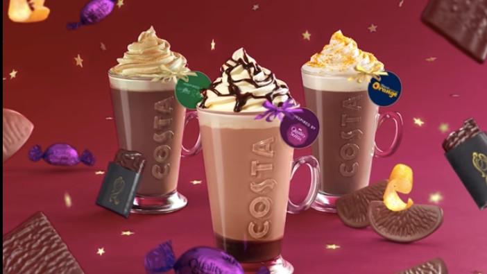 Costa Coffee festive menu