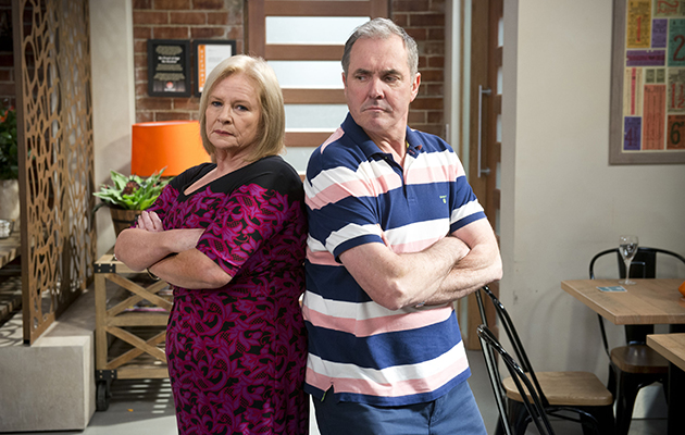 Sheila Canning triumphs over Karl Kennedy as president of the Liveable City Committee in Neighbours.