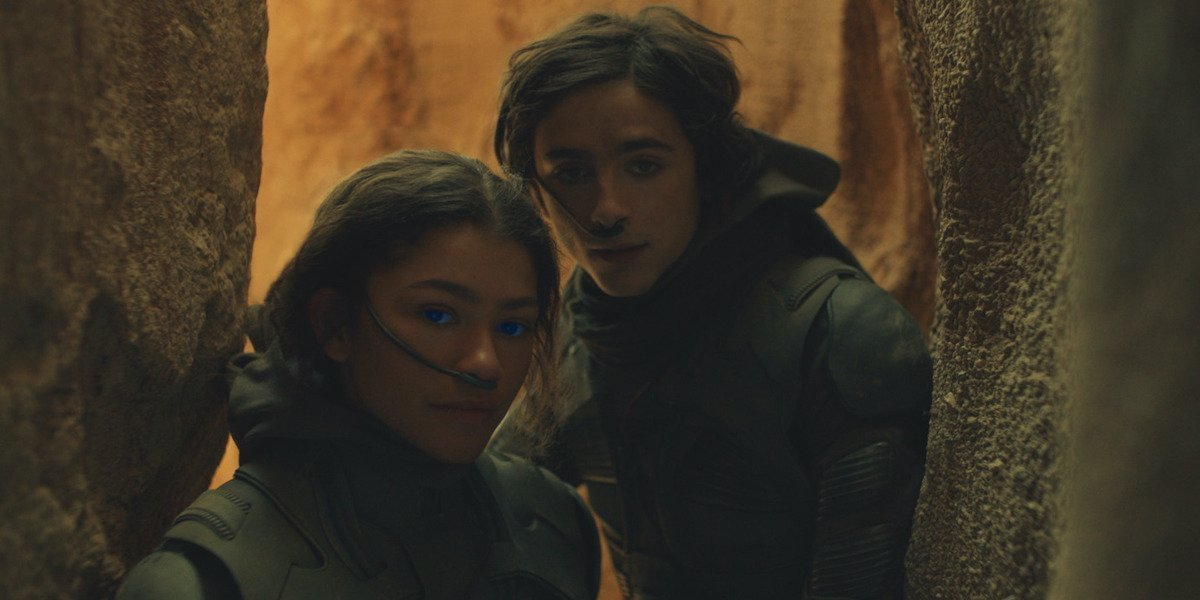 Zendaya and Timothee Chalamet in Dune