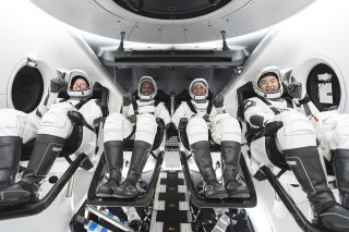 NASA astronauts Shannon Walker, Victor Glover and Mike Hopkins and Japanese astronaut Soichi Noguchi will fly on the Crew-1 mission, currently scheduled to launch on Nov. 14, 2020.