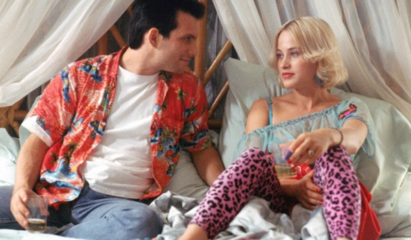 Patricia Arquette and Christian Slater in bed