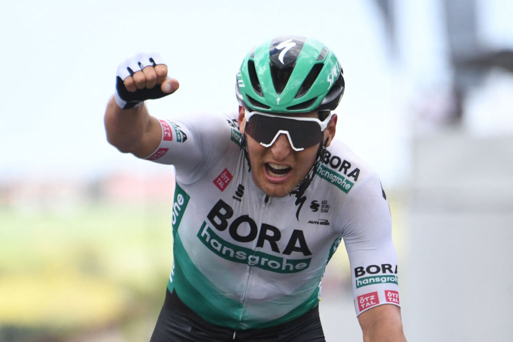 Lukas Postleberger (Bora-Hansgrohe) won stage 2 of the Criterium du Dauphine