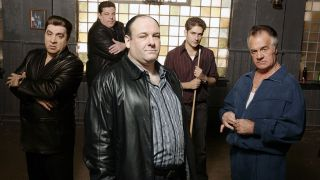 A promotional image for The Sopranos on HBO Max