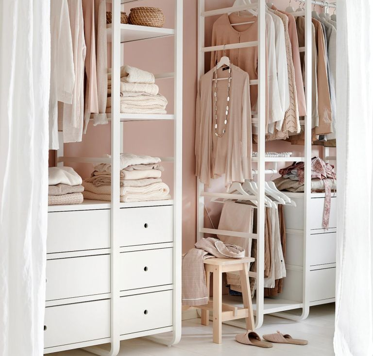 Ikea bedroom furniture: Elvarli storage system