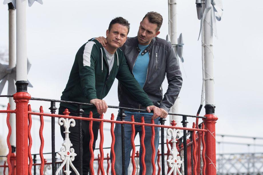 Darren Osborne and Luke Morgan in Hollyoaks