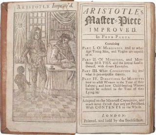 "rare book ""aristotle's compleat master-piece"""